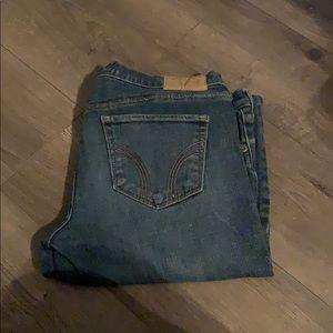 Hollister jeans medium wash stretch size 7 R reg